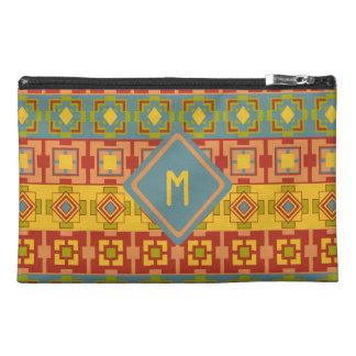 Aztec Pattern Custom Initial Travel Bag