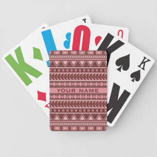 Aztec Pattern custom playing cards