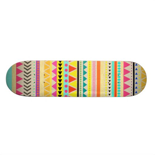 Aztec Pattern Design Skate Board