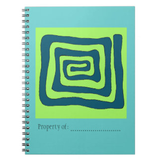 Aztec Pattern Green Photo Notebook
