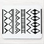 Aztec pattern mouse pad