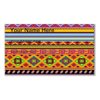 Aztec Pattern Popular Affordable Design Double-Sided Standard Business Cards (Pack Of 100)