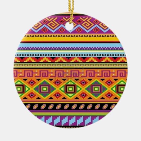 Aztec Pattern Popular Affordable Design Ceramic Ornament