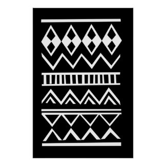 Aztec pattern poster