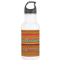 Aztec Pattern Water Bottle