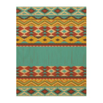 Aztec pattern Wood Wall Art