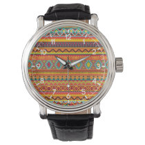 Aztec Pattern Wristwatch