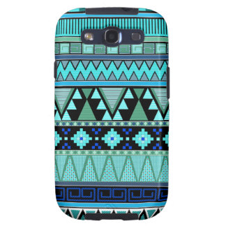Aztec patterns blue/mint/green galaxy s3 cover