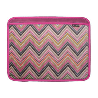 Aztec Pink Red Green Chevron Girly Pattern MacBook Sleeves