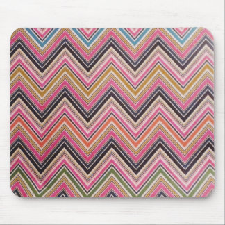 Aztec Pink Red Green Chevron Girly Pattern Mouse Pad