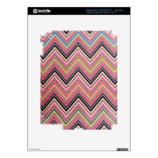 Aztec Pink Red Green Chevron Girly Pattern Decals For iPad 3