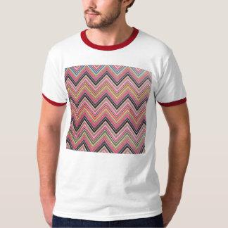 Aztec Pink Red Green Chevron Girly Pattern T-Shirt