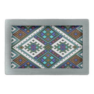 Aztec Pixel Pattern. A Must have trend. Belt Buckle