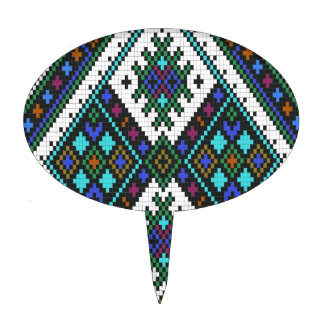 Aztec Pixel Pattern. A Must have trend. Cake Topper