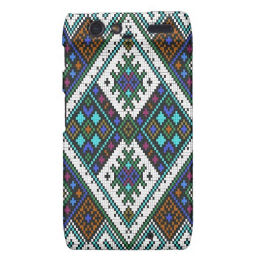 Aztec Pixel Pattern. A Must have trend. Motorola Droid RAZR Case