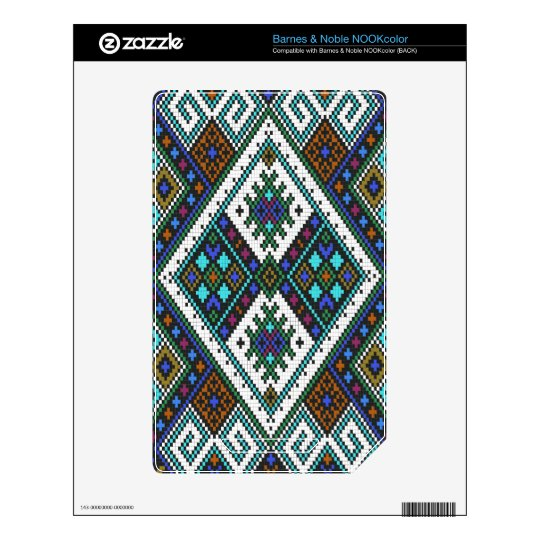 Aztec Pixel Pattern. A Must have trend. Skin For NOOK Color
