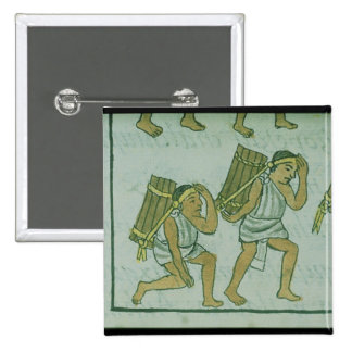 Aztec porters, from the 'Florentine Codex' Button