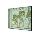 Aztec porters, from the 'Florentine Codex' Canvas Print