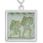 Aztec porters, from the 'Florentine Codex' Square Pendant Necklace