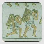 Aztec porters, from the 'Florentine Codex' Square Sticker
