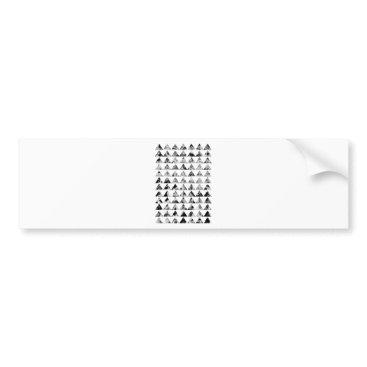 Aztec Themed Aztec print black blank Black White Bumper Sticker