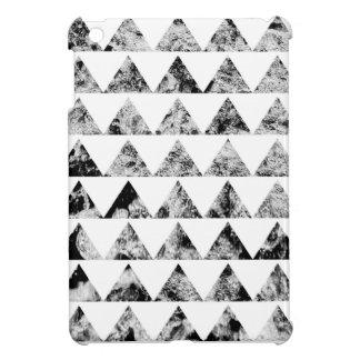 Aztec print black blank Black White Cover For The iPad Mini
