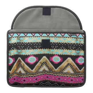 Aztec Print in Funky Colors Sleeves For MacBooks