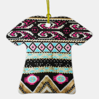 Aztec Print in Funky Colors Ornament
