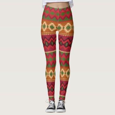Aztec Themed Aztec Print Leggings