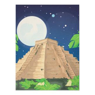 Aztec Pyramid Card