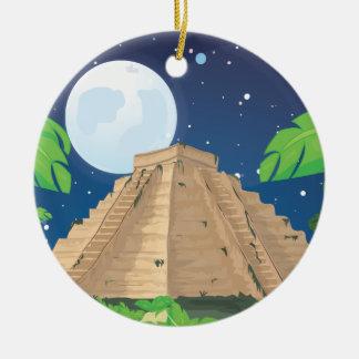 Aztec Pyramid Christmas Ornament