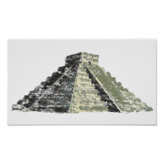 Aztec Pyramid Poster