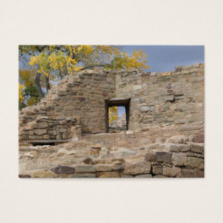 aztec ruin a look at fall through the window business card