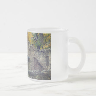 aztec ruins in new mexico fall scene frosted glass coffee mug
