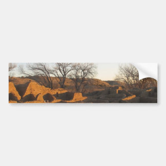 aztec ruins in the morning and spring car bumper sticker
