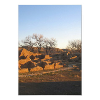 aztec ruins in the morning and spring card