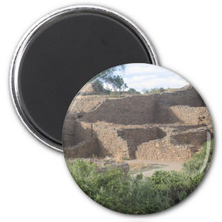 aztec ruins new mexico brick structure 2 inch round magnet