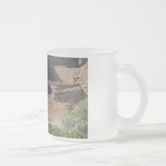 aztec ruins new mexico brick structure frosted glass coffee mug