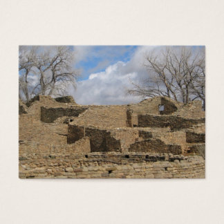 aztec ruins with windows and doorways business card
