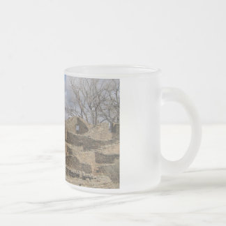 aztec ruins with windows and doorways frosted glass coffee mug