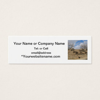 aztec ruins with windows and doorways mini business card