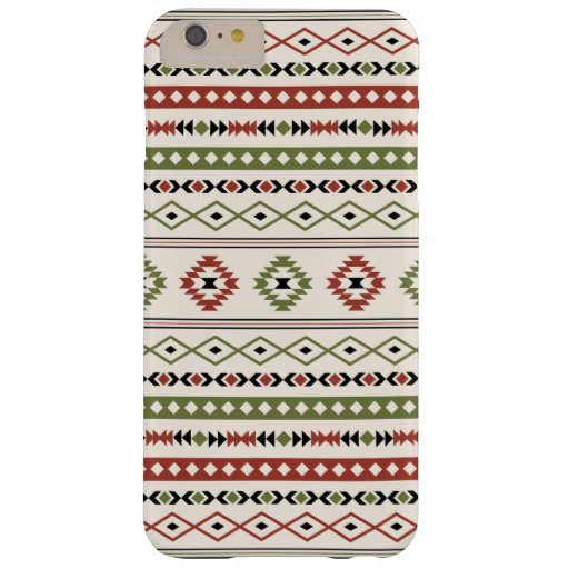 Aztec Rust Green Black Cream Mixed Motifs Pattern Barely There iPhone 6 Plus Case