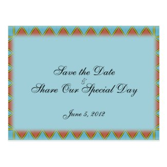 Aztec Save the Date Postcard