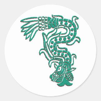 Aztec Serpent Classic Round Sticker