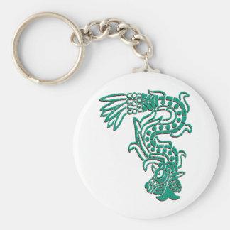 Aztec Serpent Keychain