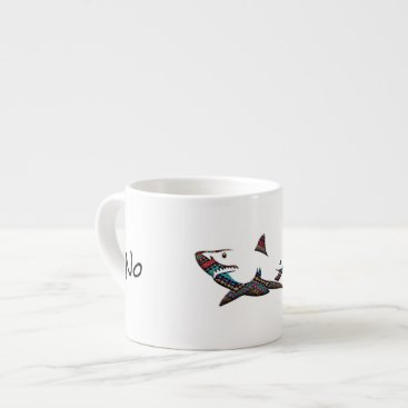 Aztec Themed Aztec Shark Espresso Cup