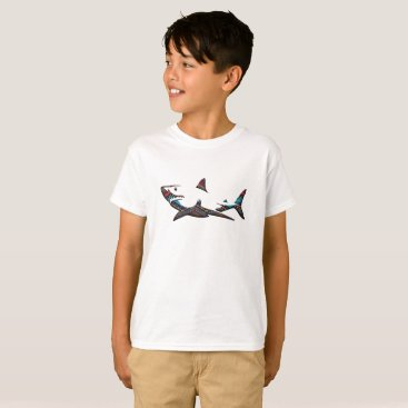 Aztec Themed Aztec Shark T-Shirt