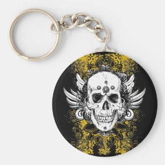 Aztec-Skull Keychain
