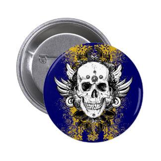 Aztec-Skull Pinback Button