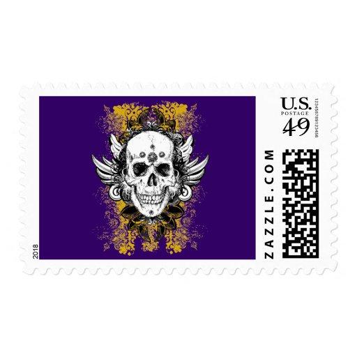 Aztec-Skull Postage Stamp